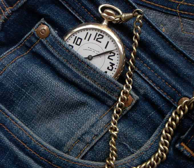 watch in pocket jeans